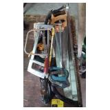 Lot of various hand saws