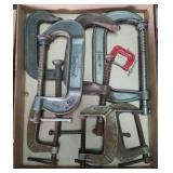 Flat of C clamps