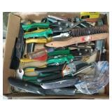 Flat of various tools
