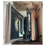 Box lot of frames