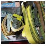 Lot of ratchet straps