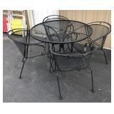 Metal Outdoor Table and Chair Set