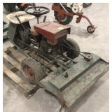 3 wheel tractor with lawn mower attachment,