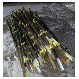 Lot of metal fence posts