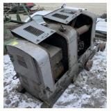 Large Gas powered generator on rolling cart