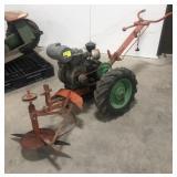 Orange and Green brush mower with Wisconsin 5hp