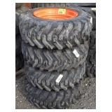 Skid-steer tire with rim 10-16.5N.H.S