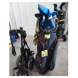 Datrek golf bag with rolling batboy caddy and