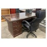 Office Desk and Chair with File Holder