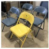 Lot of 4 metal folding chairs