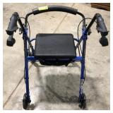 Drive brand 4 wheel walker with under seat