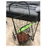 Lightweight Metal Rolling laundry basket cart