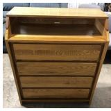 Childcraft by Smith 4 drawer solid oak changing