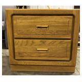 Stanley Furniture solid oak 2 drawer night stand