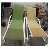 Outdoor full-size lounge chairs with adjustable