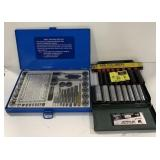 2 Nine Piece 3/8 Socket Set And 40 Pc Tap and Die