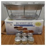 Buffet set of chafing dishes plus chafing fuel
