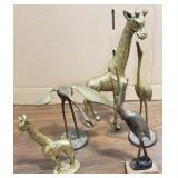 Large and Small Bronze Giraffes, 2