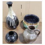 Glazed Clay Large Bowl, Glazed Clay