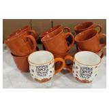 Lot of 8 Mainstays Coffee Mugs, 4 Mainstays Soup