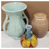 Lot Includes Ceramic Glazed Vases and Ceramic