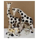 Lot Includes Ceramic Glazed Giraffes and Painted