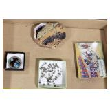 Lot Includes Stone Jewelry Box, Classic Japanese