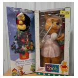 Lot of two Winnie the Pooh holiday decor items.