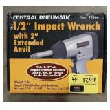 """Central Pneumatic, 1/2"""" impact wrench with"""