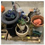 Pallet of Misc Outside Yard Items Such As