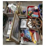 Large lot of items, home decor, frames, kitchen