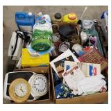 Houseware/Garden Lot Includes: Glass Dishes, Weed