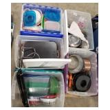Kitchen Lot Includes: Misc. Tupperware, Pans,