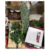 Christmas Lot Includes: Wreaths, Small Trees,