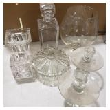 Lot of Glass Items Including Candy Bowl, Goodie