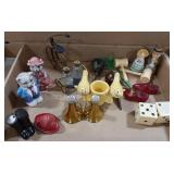 Miscellaneous lot of salt and pepper shakers, lot