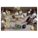 Lot of salt and pepper shakers. Some marked