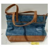 New York Genuine Leather Purse. Purse is blue and