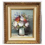 A. Turner Vase of Flowers Framed Oil