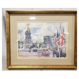 Crafted by Franklin Framed British Watercolor
