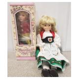 Porcelain Handpainted Swedish(?) Dolls