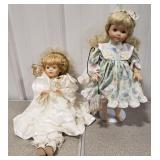 Porcelain Angel Doll and Porcelain Doll w/ Insect