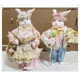 Plastic/Paper Easter Bunny Figurines