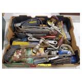 Box lot of mixed tools and more