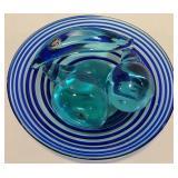 Murono Glass Fruit w/decorative glass bowl