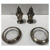 Vtg Gorham sterling silver S/P shakers and