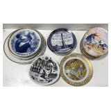 Lot of collectible china plates. Royal Worcester,