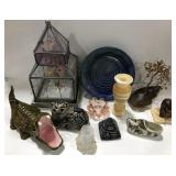 Lot of miscellaneous glass, ceramic and marble