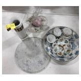 Lot of miscellaneous porcelain plates, tea pots,