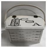 Culver CGA Wooden & wicker lined box